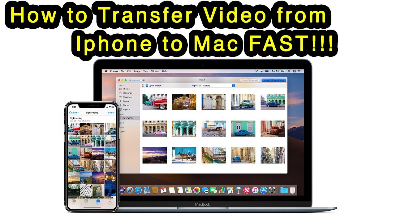 How To Transfer Videos From Iphone To Mac Fast Using Usb Cable Youtube