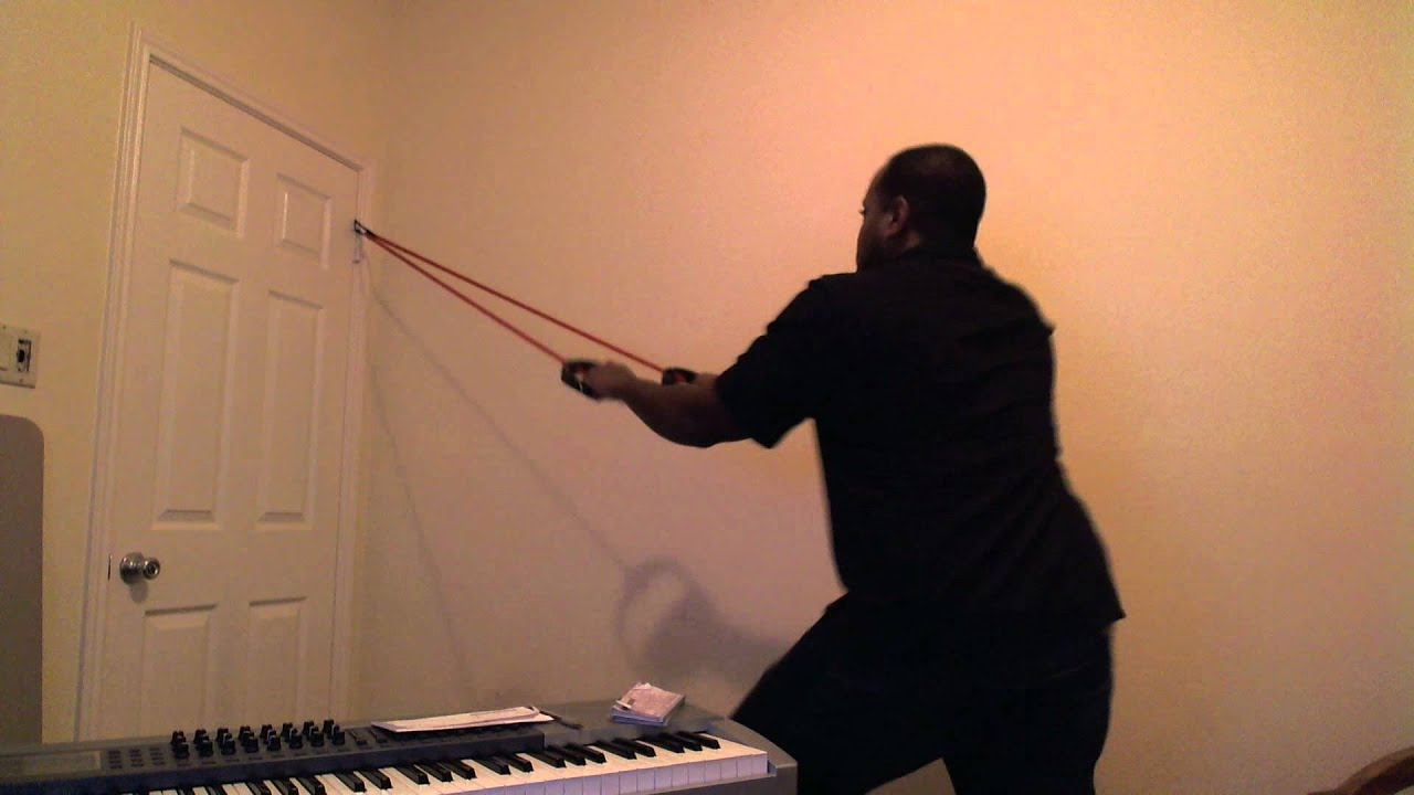 How to Use Resistance Bands u0026 a Door Strap to Simulate Pull-ups - YouTube & How to Use Resistance Bands u0026 a Door Strap to Simulate Pull-ups ... pezcame.com