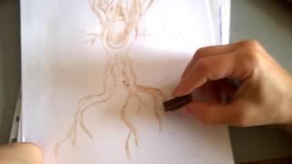 Drawing with chocolate - Cum se face un desen doar cu ciocolata