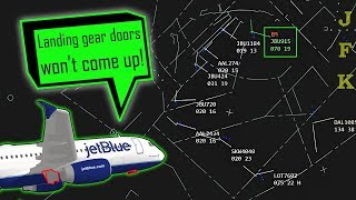 [REAL ATC] Jetblue A320 return to JFK with a LANDING GEAR ISSUE!