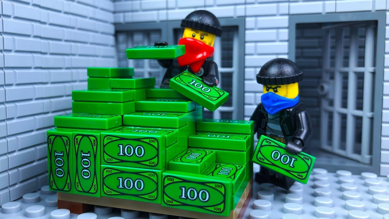 Lego Bank Robbery 💣 Tunnel 🔴