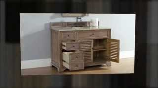 """New 48"""" James Martin Savannah Solid Wood Bathroom Vanity Collection  From Homethangs.com"""