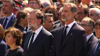 Spain attacks: PM Rajoy joins mourners for one-minute silence