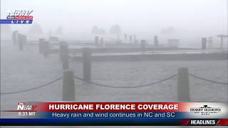 FNN: Tropical Storm Florence Pounds North Carolina and South Carolina With Rain and Flooding