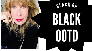 BLACK ON BLACK OOTD VIBE | howto style black on black