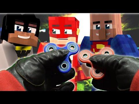 Realistic Minecraft: Fidget Spinners in Minecraft - Fake superman? - Видео из Майнкрафт (Minecraft)