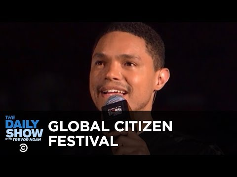 Trevor Hosts the Global Citizen Festival to Honor Nelson Man