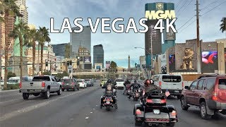 Driving Downtown - Las Vegas USA 4K