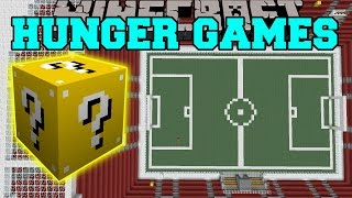 Minecraft: FOOTBALL STADIUM HUNGER GAMES - Lucky Block Mod - Modded Mini-Game