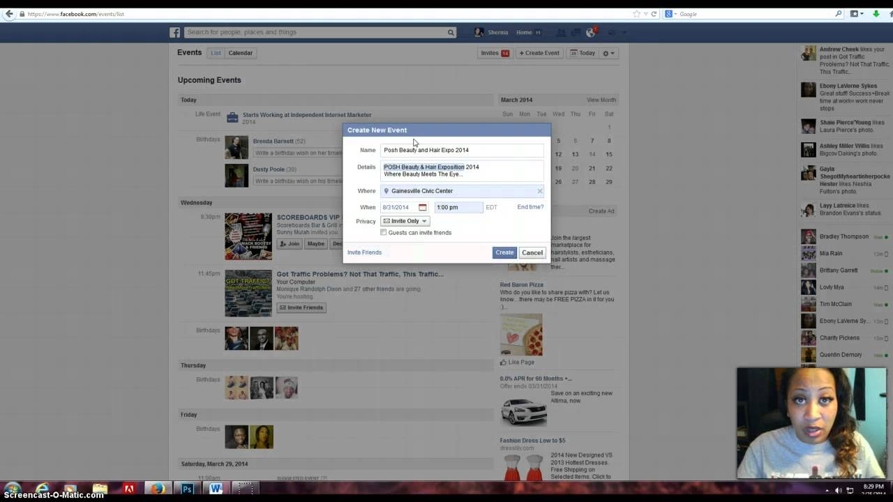 how to add all friends to facebook event