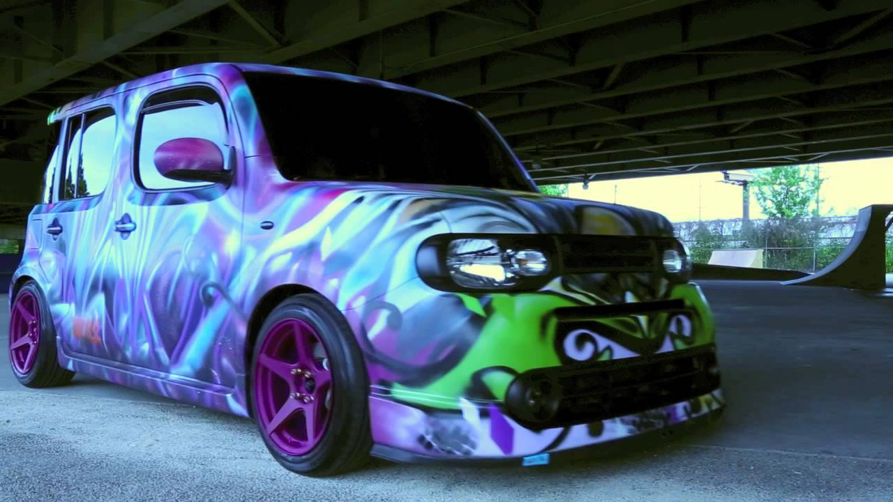 nissan cube grafitti bombed and bagged ss s volume5. Black Bedroom Furniture Sets. Home Design Ideas