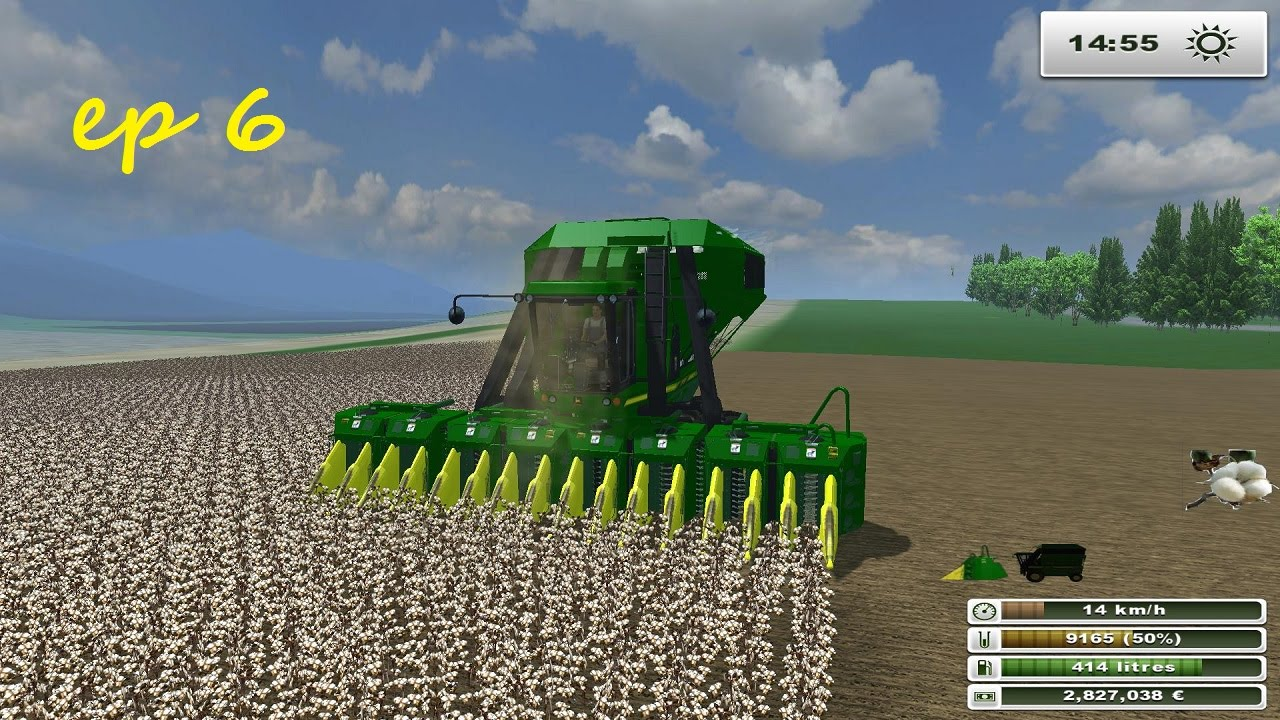 farming simulator 2013 map multifruit ep 6 la rà colte du coton