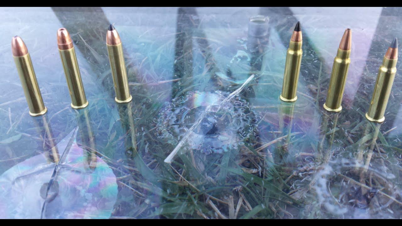 .22 MAG VS. .17 HMR VS. BULLETPROOF GLASS - YouTube