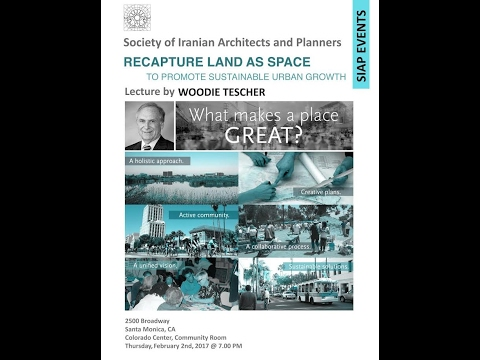 SIAP LECTURE- Recapture land as space, Woodie Tescher-PART 1