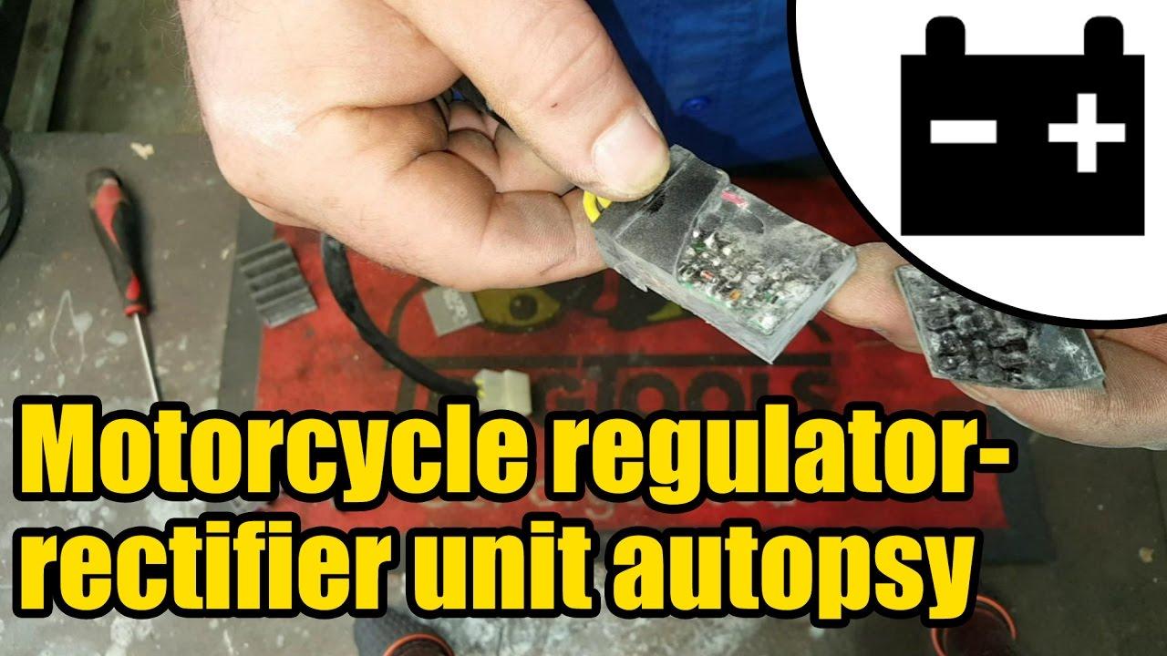 Motorcycle regulator rectifier unit autopsy #1427