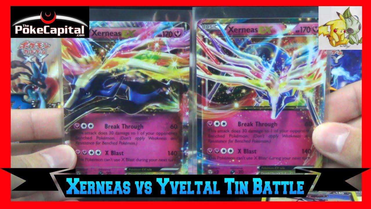 pokemon cards xerneas ex tin opening battle vs poke tcg
