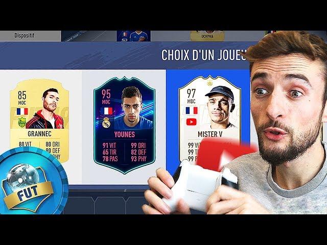 JE DÉCOUVRE LA DRAFT DES YOUTUBERS !!! (FIFA 19)