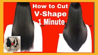 V-SHAPE HAIRSTYLE. EASY WAY HOW TO DO AT HOME.FOR BEGINNER