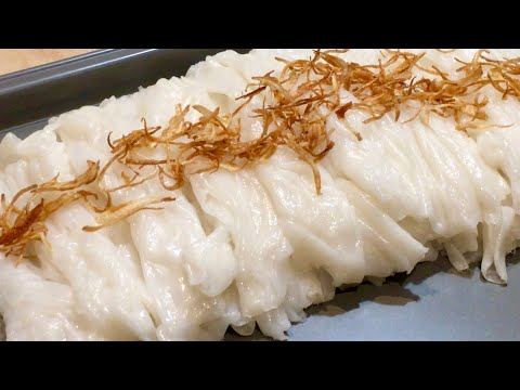 Cách Pha Bột Làm Bánh Ướt Dai Mềm Cực Kỳ Ngon   Savory Rice Rolls   Foci
