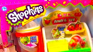 "SHOPKINS ""Fruit & Vegetable Stand"" Shopkins Food and Collectors Items Shopkins Food Stand TOY"