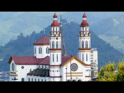 Manizales in Colombia, landslides, students, eco-park , botanical garden, cathedral, Antioquia