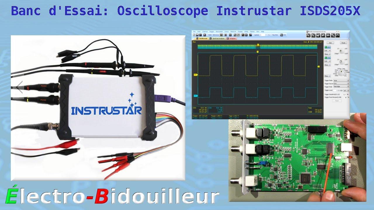 Using A Digital Oscilloscope : Eb banc d essai oscilloscope pc combiné instrustar