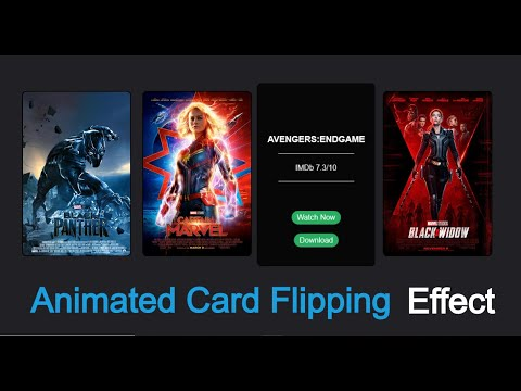 Code Animated Flipping Movie Card Using HTML & CSS