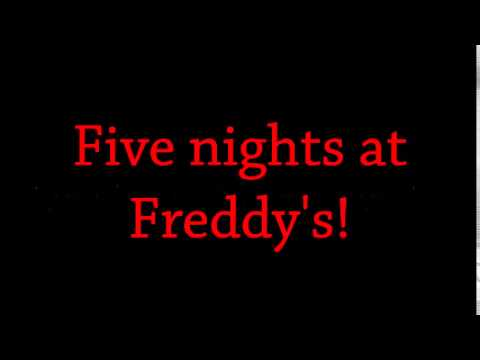 5 nights at freddys song lyrics