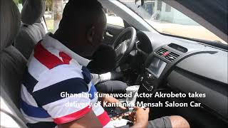 Official Kantanka Mensah Car Delivery to Ghanaian Actor Akrobeto (Must Watch Video)