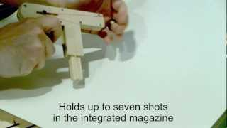 Wood Toy Gun Demonstration For Instructable