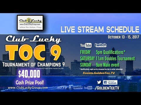 GTTV - TOC 9 - Club Lucky - Saturday Golden Tee Doubles - Kansas City, MO