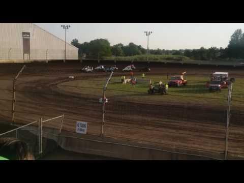 Sprint Car Heat 1  Aaron Pierce Flip  Kokomo Speedway