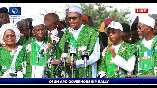 'Osun Must Remain APC' Buhari Presents Party Flag To Gboyega Oyetola Pt.1 |Live Event|