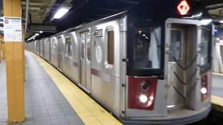 ニューヨーク地下鉄7系統R188系 フラッシング-メイン・ストリート駅到着 New York City Subway 7 Express Service