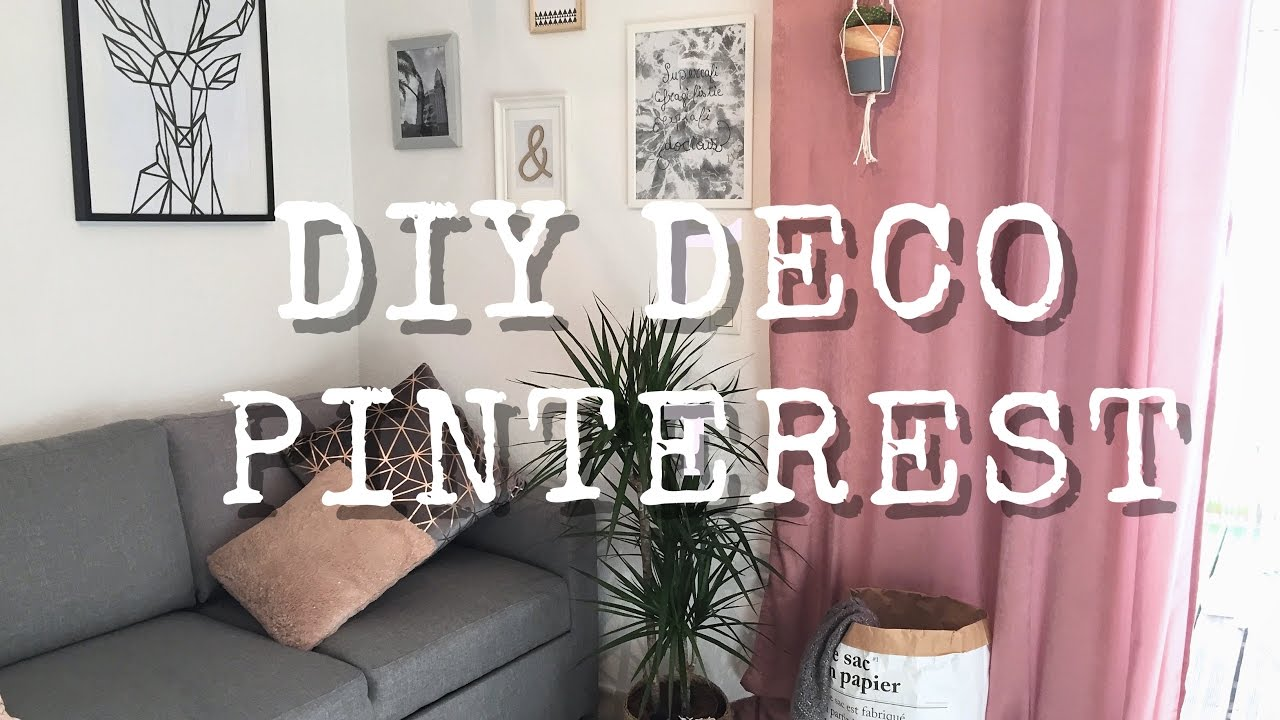 3 diy d co macram pompons et cadre inspiration pinterest youtube. Black Bedroom Furniture Sets. Home Design Ideas