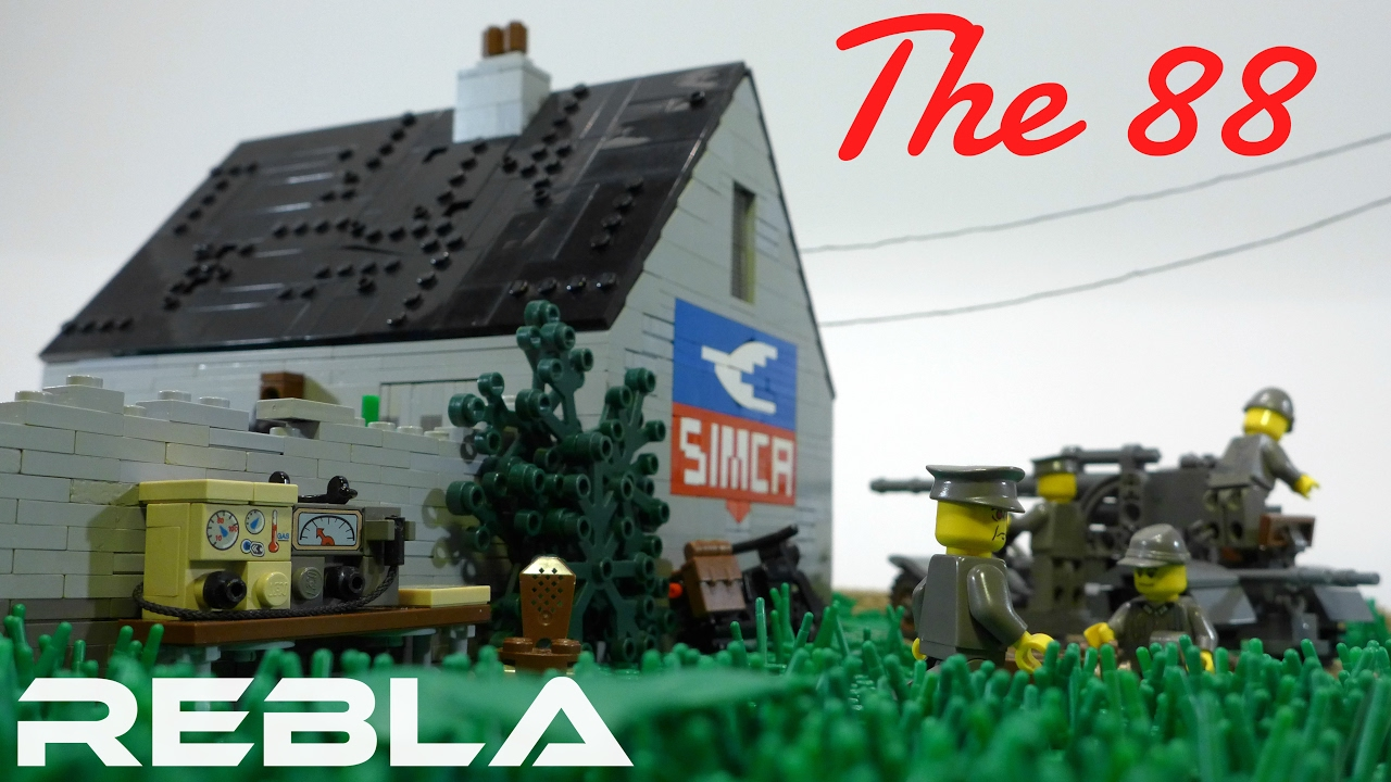 Lego ww2 battle of france the 88 youtube for Siege lego france