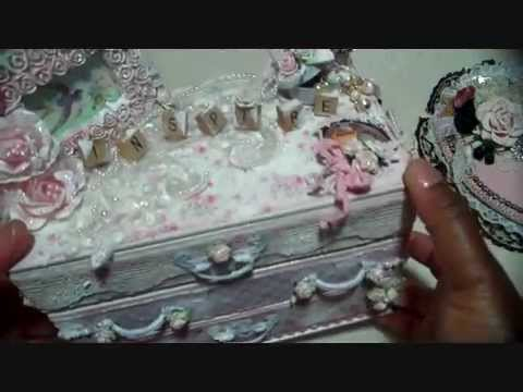 Shabby Chic Dresser  Altered Boxes  YouTube