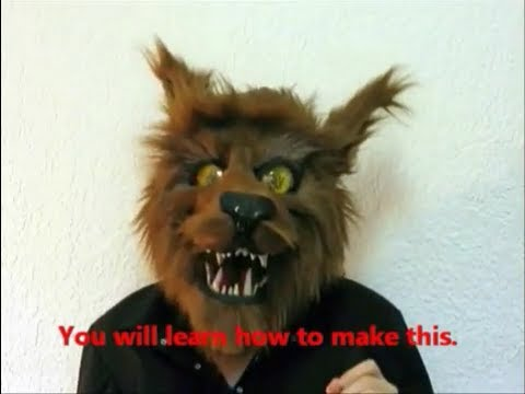 """Make an articulated a beast mask"" 1 hour 18 minutes of glorious how to"
