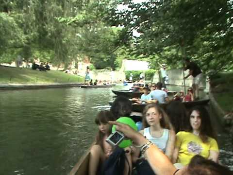 In the river Cam,Cambridge,punting!!