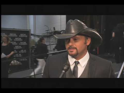 Tim McGraw-Backstage at George Strait: ACM Artist of the Decade Concert