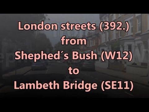 London streets (392.) - Shepherd´s Bush (W12) - Holland Park - Cromwell Road - Lambeth Bridge (SE11)
