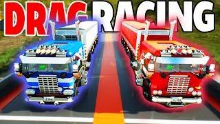 LEGO SEMI DRAG RACING & STREET RACING! - Brick Rigs Multiplayer Drag Racing w/Camodo Gaming