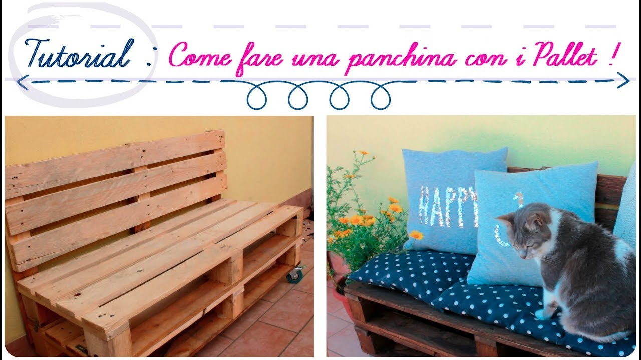 Vendita Panchine Da Giardino A Roma.Tutorial Come Fare Una Panchina Con I Pallet Diy Pallet Sofa