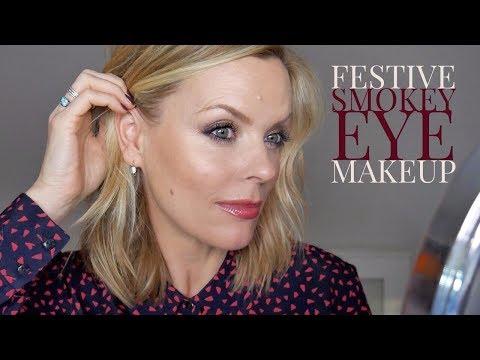 Festive smokey eye makeup