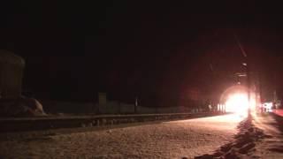宗谷ラッセル 雪361レ 音威子府に到着~発車 2017年2月2日