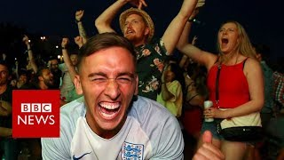 World Cup 2018: How England fans celebrated - BBC News
