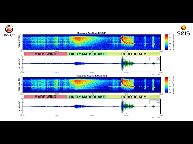 first marsquake recorded by nasa details and video