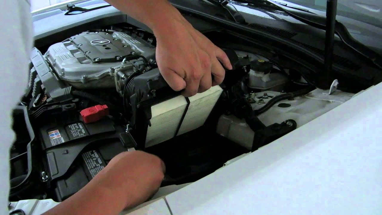 How To Change The Engine Air Filter On The Acura TL YouTube - Acura mdx air filter