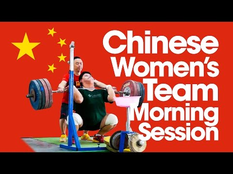 Chinese Women Morning Session 2015 Asian Weightlifting Championships