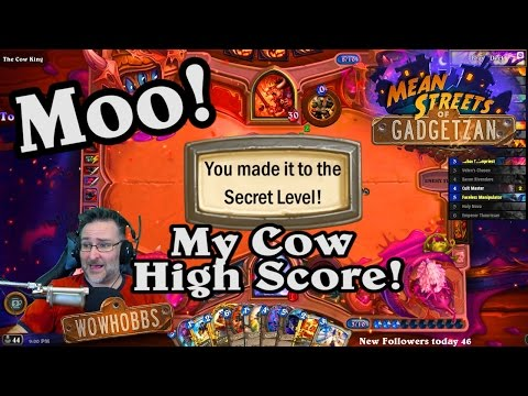 Secret Cow Level In The Dark Wanderer Tavern Brawl ~ Mean Streets Of Gadgetzan ~ Hearthstone